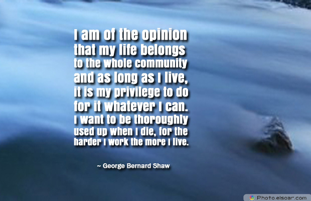 Martin Luther King Jr. Day , I am of the opinion that my life belongs to the whole community
