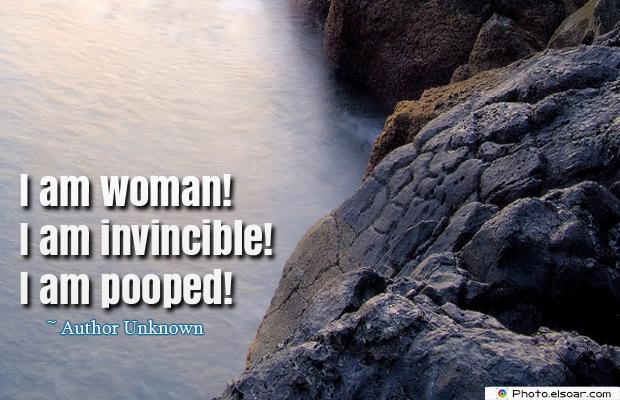 Women's Greetings , I am woman! I am invincible