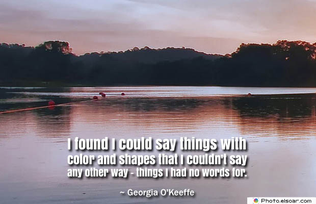 Quotes About Chakras , I found I could say things with color