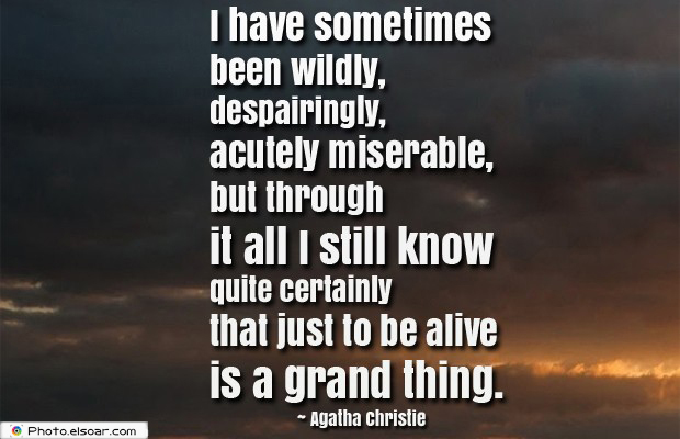 I have sometimes been wildly, despairingly, acutely miserable