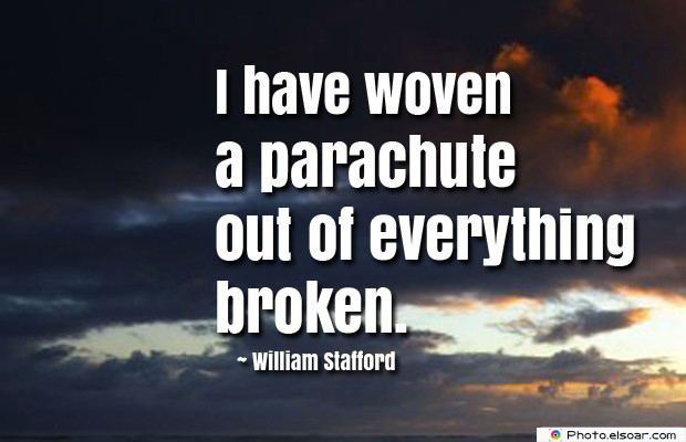 I have woven a parachute out