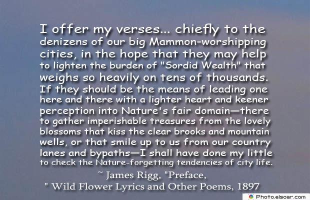 I offer my verses