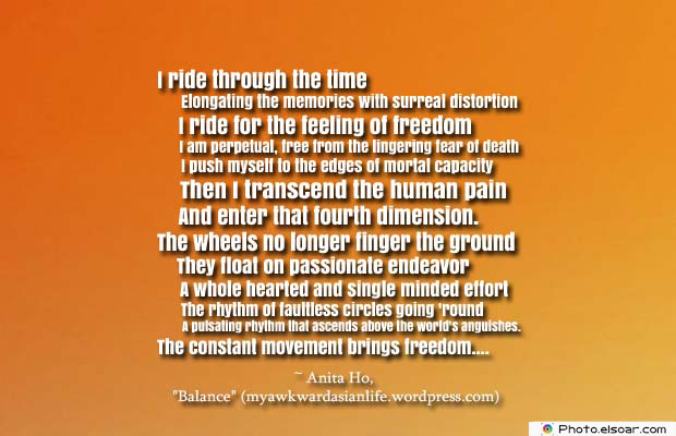 Bicycling , Inspirational Quotes , Saying Images , I ride through the time