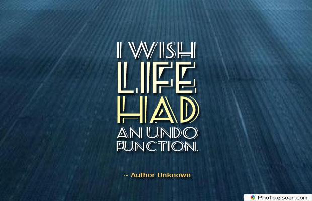 I wish life had an Undo