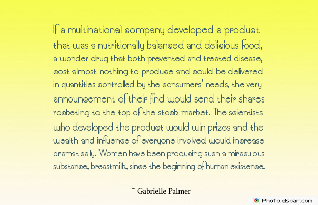 Breastfeeding Quotes , If a multinational company developed