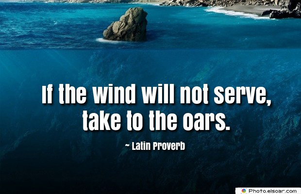 If the wind will not serve, take to the oars