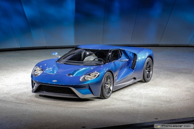 Image Of Ford GT At 2015 Detroit Auto Show Front Three Quarter