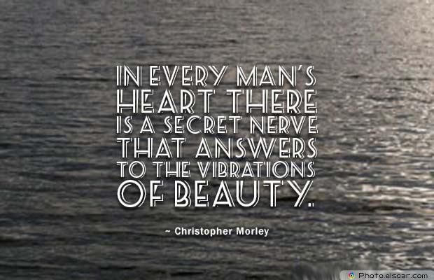 Beauty Quotes , In every man's heart there is a secret nerve