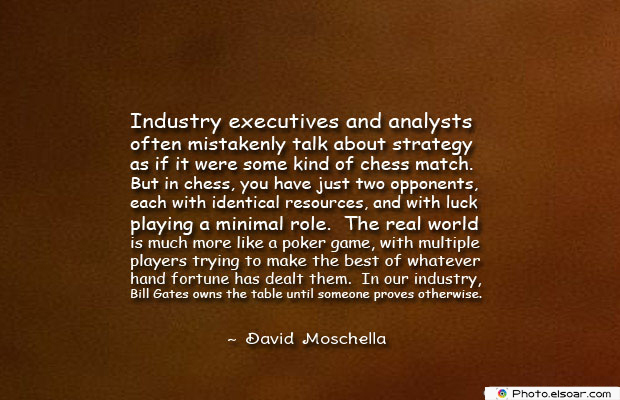 Industry executives and analysts