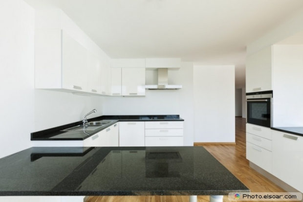 Interior Kitchen Inside Beautiful New Apartment