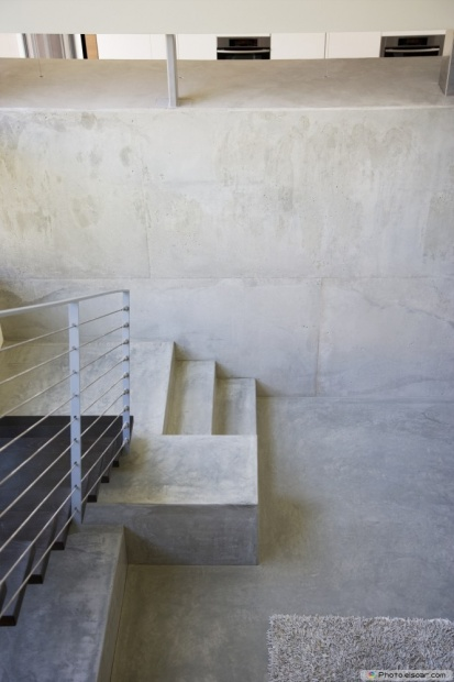 Interior Of Modern House, Metal Staircase