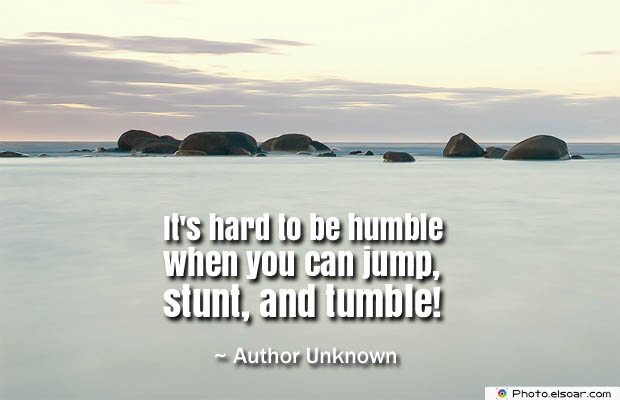 Short Quotes , It's hard to be humble when