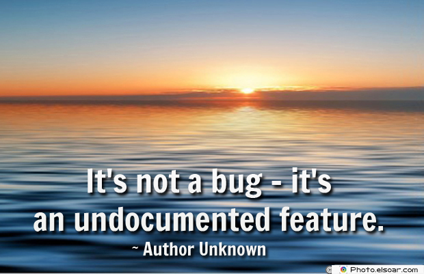System Administrator , It's not a bug</strong> - <em>it's an undocumented