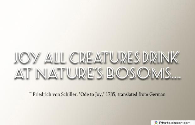 Breastfeeding Quotes , Joy all creatures drink