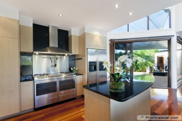 Kitchen Inside Stylish Australian Home