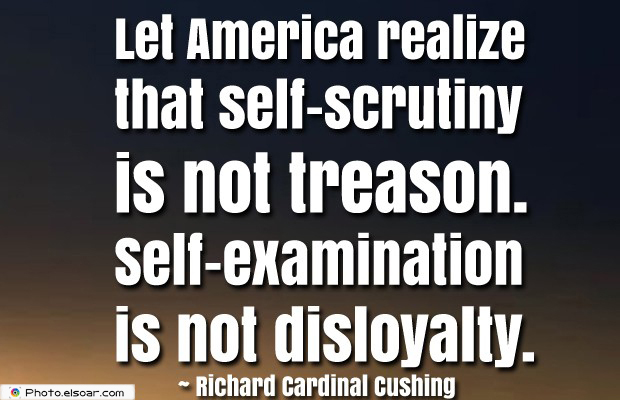 Quotes About America , America Quotes , Let America realize that self-scrutiny is not treason