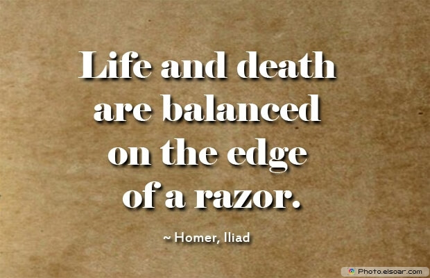 Homer, Death Quotes, Death Sayings, Quotes Images, Quotes About Death