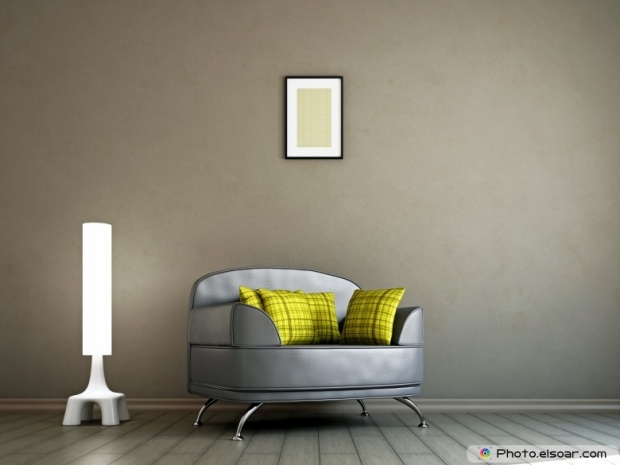 Livingroom with armchair and a lamp
