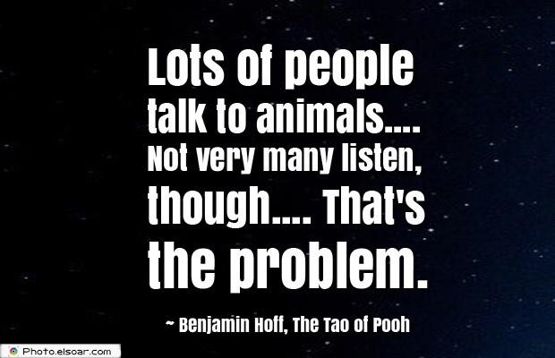 Lots of people talk