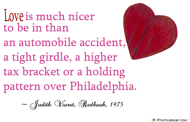 Love is much nicer to be in than an automobile