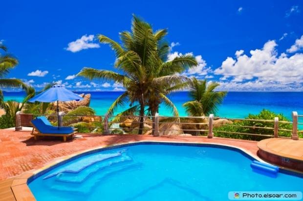 Luxury Pool at tropical beach