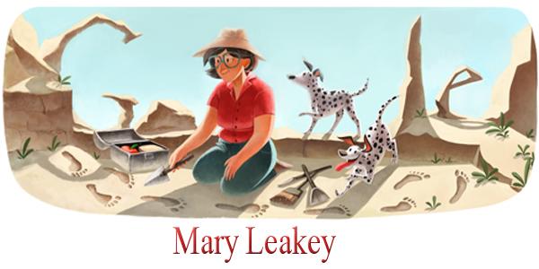 Mary Leakey - Google Doodle