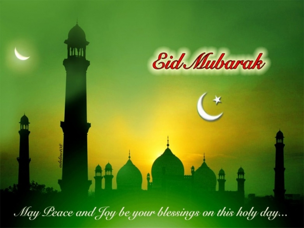 May peace and joy be your blessings on this holiday, Eid Mubarak