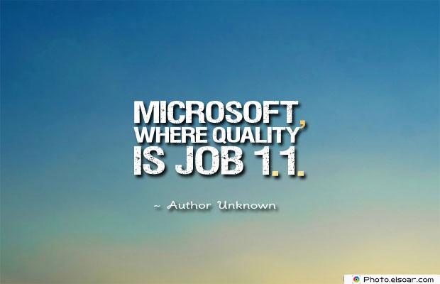 Microsoft, where
