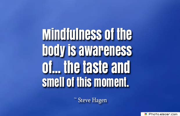 Body Quotes , Quotes About Body , Mindfulness of the body is awareness