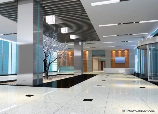 Modern design interior of hall, corridor