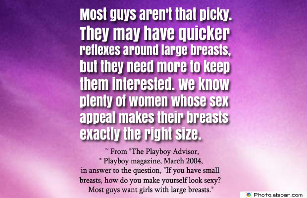 Body Quotes , Quotes About Body , Most guys aren't that picky