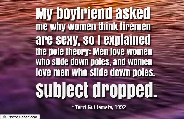 Women's Greetings , My boyfriend asked me why women