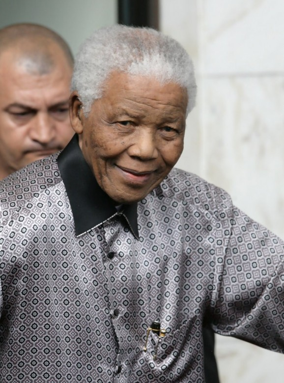 Nelson Mandela Arrives At The Intercontinental Hotel