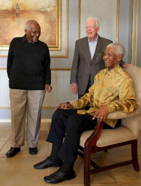 Nelson Mandela, Desmond Tutu, Jimmy Carter
