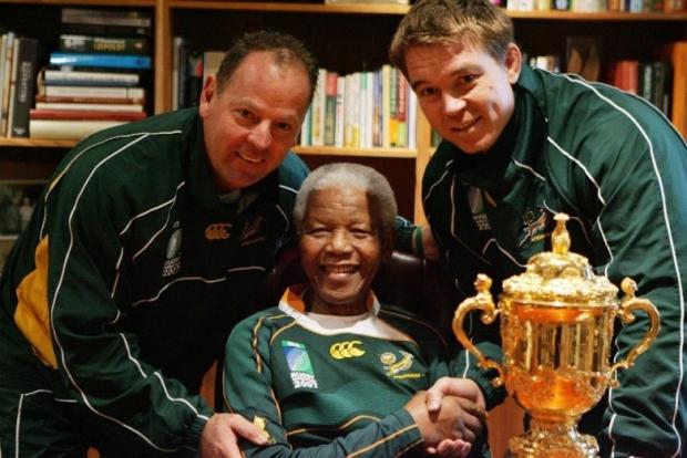 Nelson Mandela, John Smit, Jake White