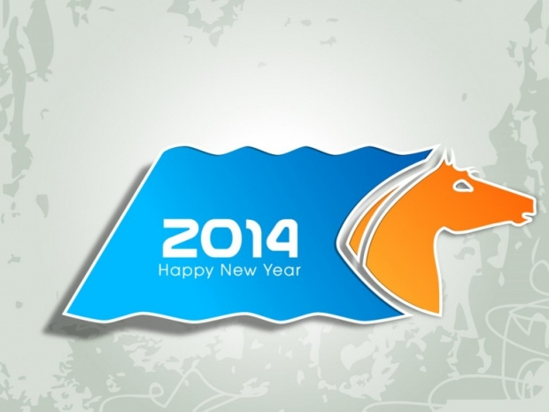New Year 2014 with Chinese Symbol 1