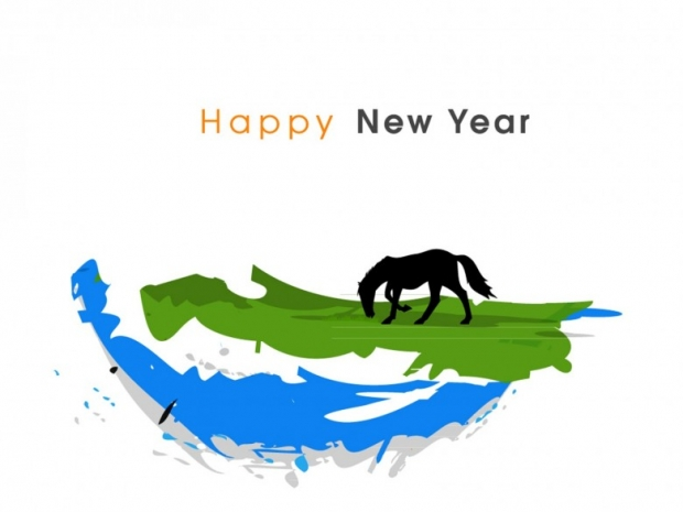 New Year 2014 with Chinese Symbol 4
