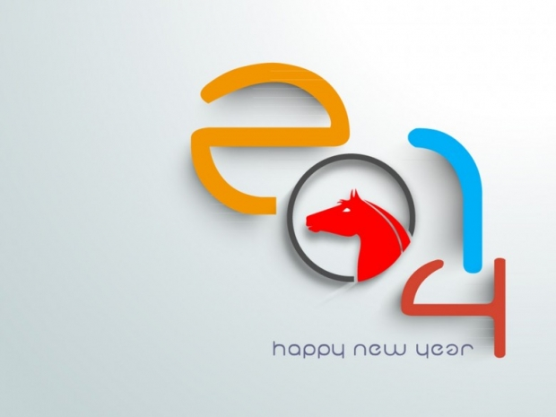 New Year 2014 with Chinese Symbol 7