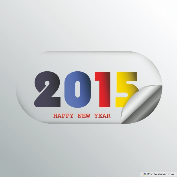 New Year 2015 Greetings In Stylish Card
