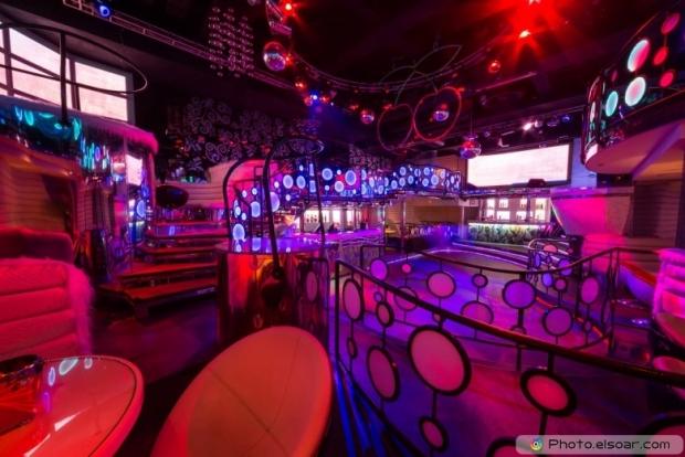 Nightclub Pacha with bar and dance floor