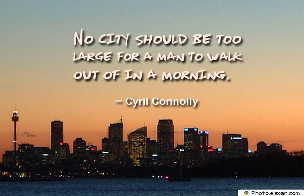 No city should be too large