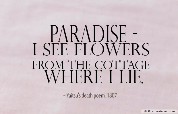 Yaitsu's death poem, Death Quotes, Death Sayings, Quotes Images, Quotes About Death