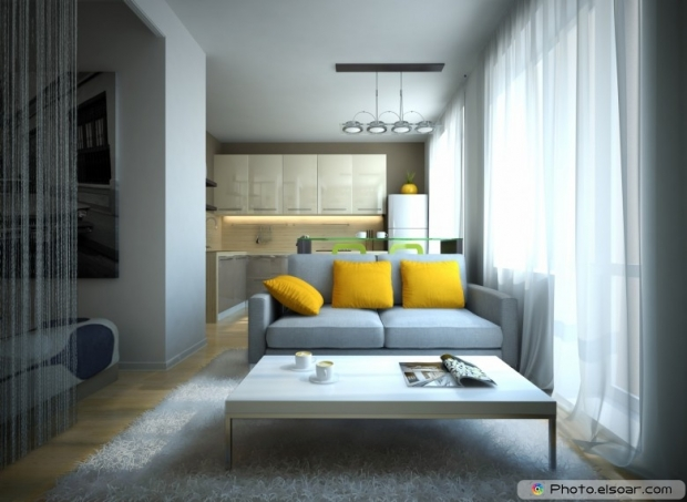 Part of the modern apartment