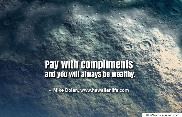 Pay with compliments