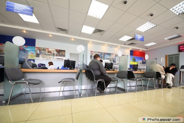 People are queuing for service in Department of VTB24