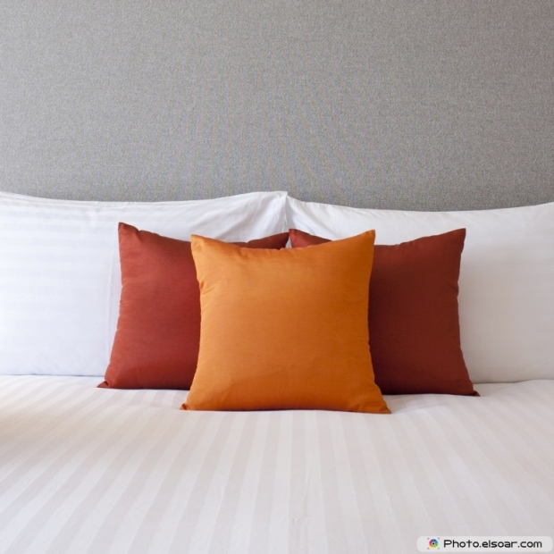 Pillow On Hotel Bed
