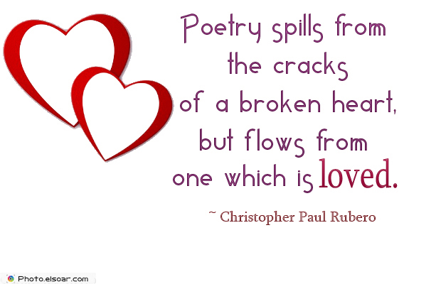 Poetry spills from the cracks