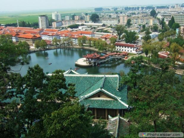 Pond In Pyongyang, North Korea
