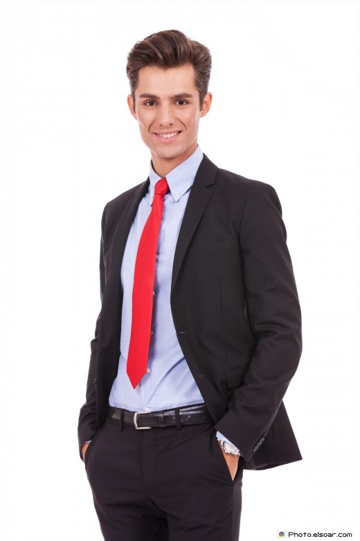Positive and relaxed businessman looking very approachable