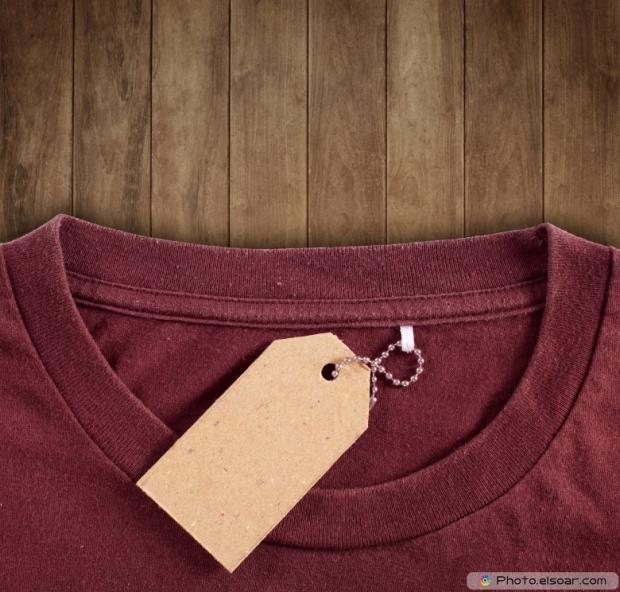 Price tag hang over tshirt
